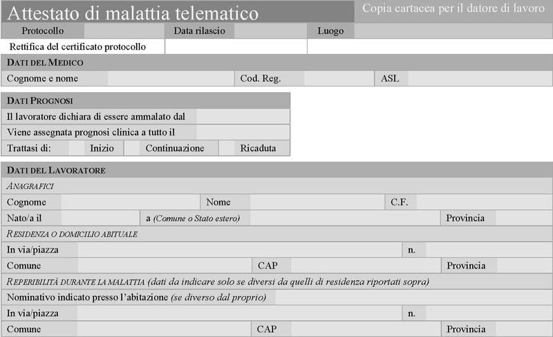 INVIO TELEMATICO DEL CERTIFICATO DI MALATTIA - COME E QUANDO